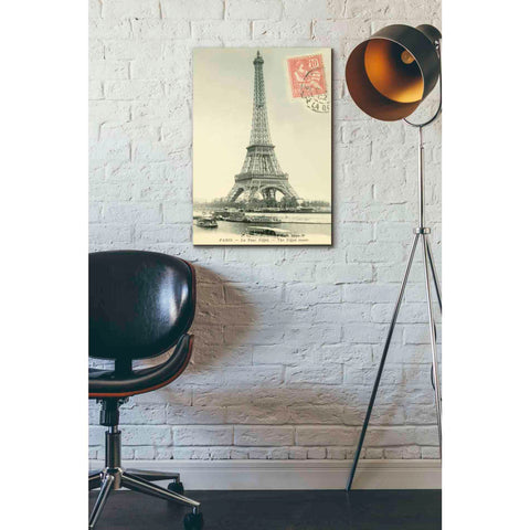 'Tower Stamped' by Yellow Cafe, Canvas Wall Art,18 x 26