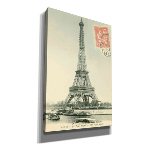 'Tower Stamped' by Yellow Cafe, Canvas Wall Art,Size A Portrait