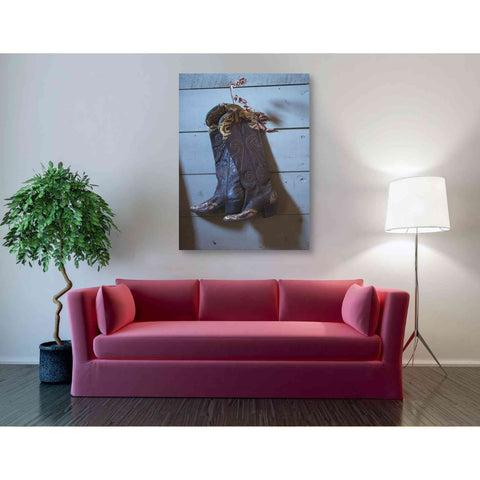'If These Boots Could Talk' by Yellow Cafe, Canvas Wall Art,40 x 54