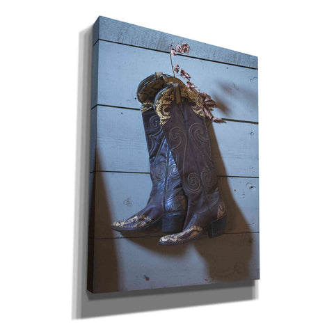'If These Boots Could Talk' by Yellow Cafe, Canvas Wall Art,Size B Portrait