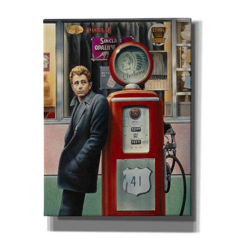 'James Dean' by Yellow Cafe, Canvas Wall Art,Size C Portrait