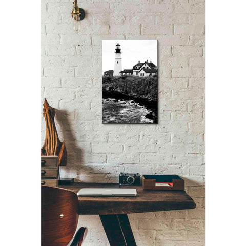 'Black and Lighthouse' by Yellow Cafe, Canvas Wall Art,12 x 18