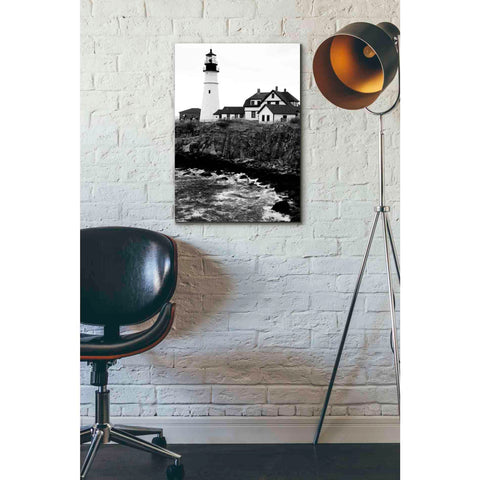 'Black and Lighthouse' by Yellow Cafe, Canvas Wall Art,18 x 26