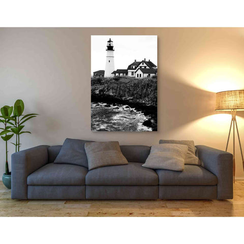 'Black and Lighthouse' by Yellow Cafe, Canvas Wall Art,40 x 60