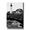 'Black and Lighthouse' by Yellow Cafe, Canvas Wall Art,Size A Portrait