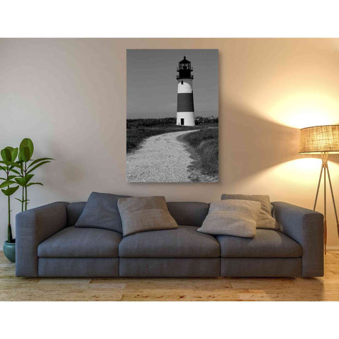 'Black and Lighthouse II' by Yellow Cafe, Canvas Wall Art,40 x 60