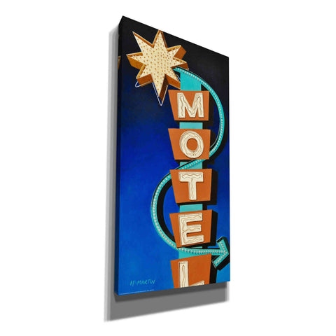 'Hotel Motel' by Yellow Cafe, Canvas Wall Art,Size 2 Portrait