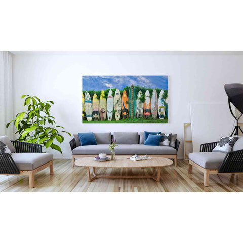 'Surfboards' by Dennis Frates, Canvas Wall Art,60 x 40
