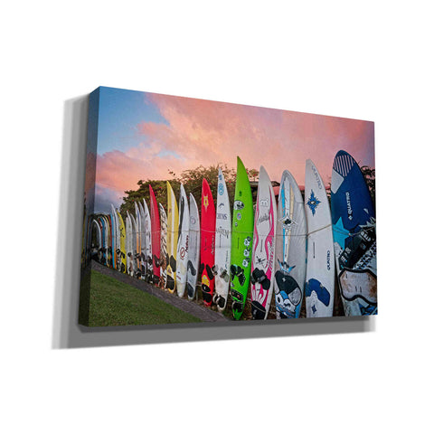 'Surf Time' by Dennis Frates, Canvas Wall Art,Size A Landscape