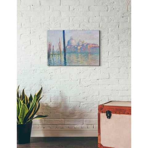 Image of 'Le Grand Canal' by Claude Monet, Canvas Wall Art,26 x 18