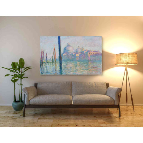 Image of 'Le Grand Canal' by Claude Monet, Canvas Wall Art,54 x 40