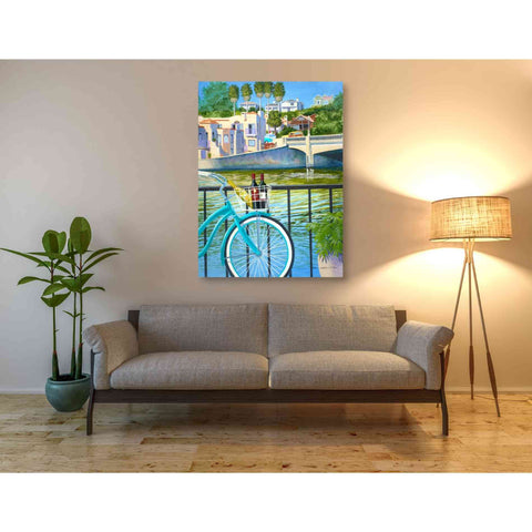 'Beach Cruisers' by Evelyn Jenkins Drew, Canvas Wall Art,40 x 54