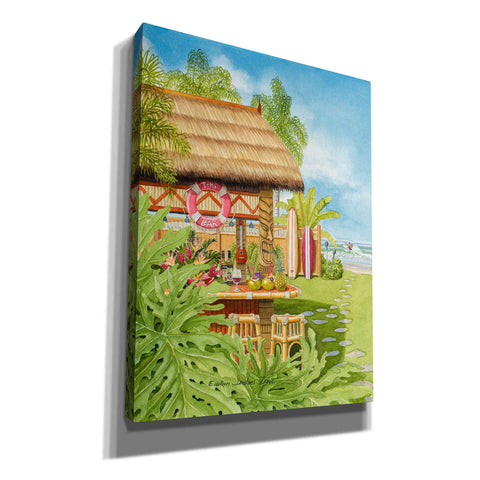 Image of 'Tiki Bar' by Evelyn Jenkins Drew, Canvas Wall Art,Size B Portrait