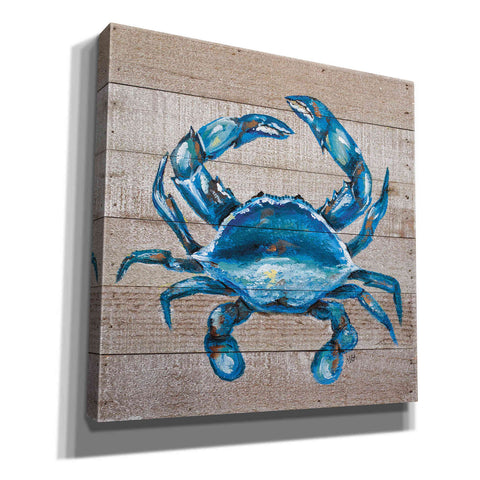 """Blue Crab"" by Molly Susan Strong Giclee Canvas Wall Art"