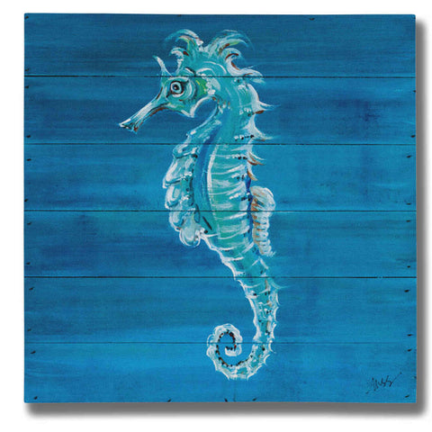 """Seahorse"" by Molly Susan Strong Giclee Canvas Wall Art"