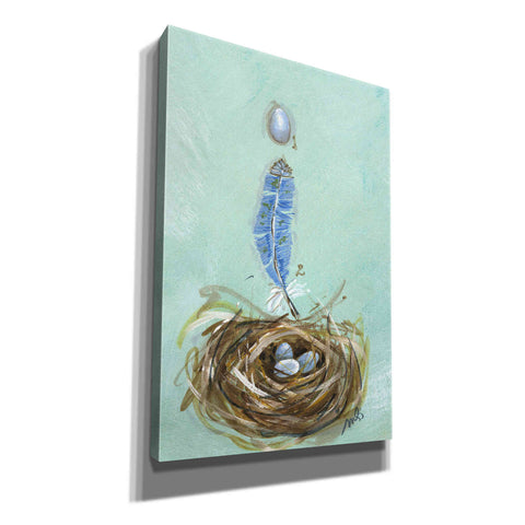 Image of 'Bluebird' by Molly Susan Strong Canvas Wall Art