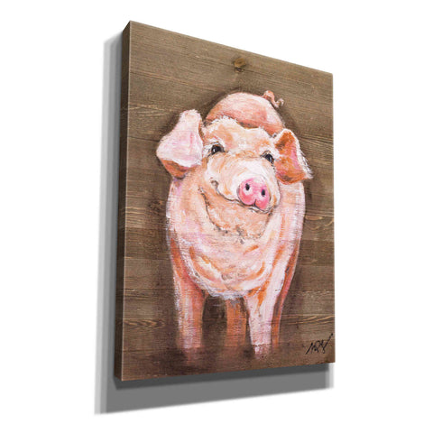 """Pig"" by Molly Susan Strong Giclee Canvas Wall Art"