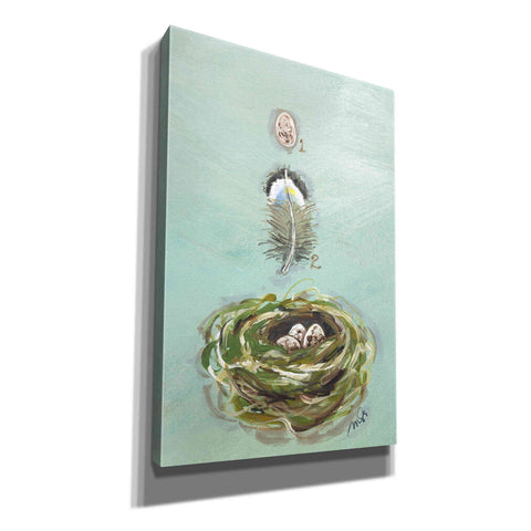 'Chickadee' by Molly Susan Strong Canvas Wall Art