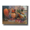 'Pumpkins on the Hearth' by Roger Bansemer, Canvas Wall Art,Size B Landscape