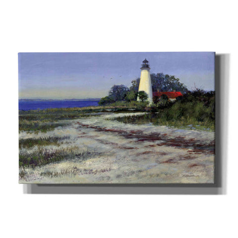Image of 'St. Marks Lighthouse' by Roger Bansemer, Canvas Wall Art,Size A Landscape