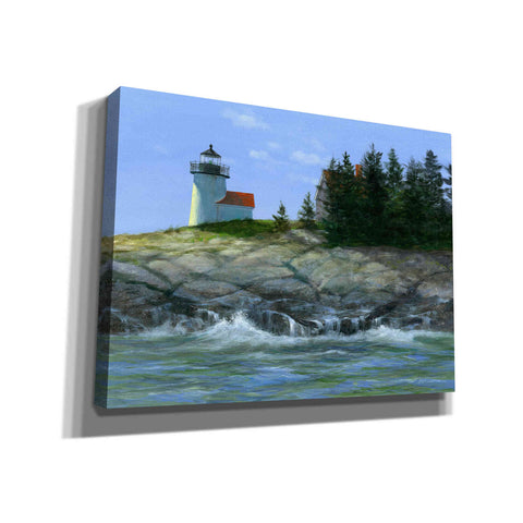 'Curtis Island Lighthouse' by Roger Bansemer, Canvas Wall Art,Size B Landscape
