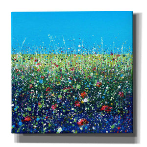 'Flowers I' by Stuart Roy, Canvas Wall Art,Size 1 Square