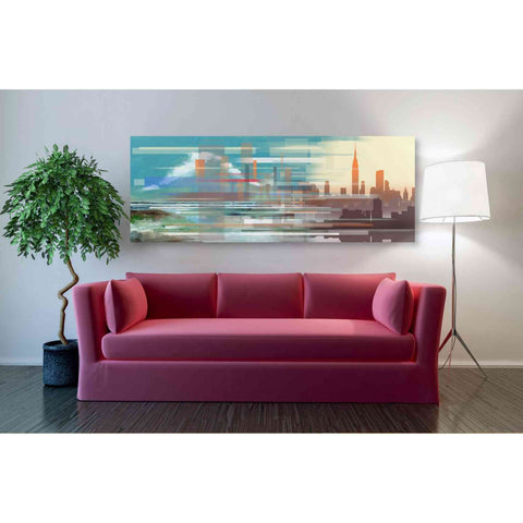 'Buildings and Seascape II' by Stuart Roy, Canvas Wall Art,60 x 20