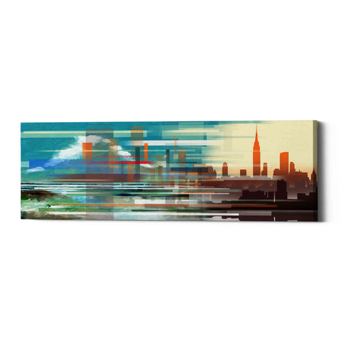 'Buildings and Seascape II' by Stuart Roy, Canvas Wall Art,Size 3 Landscape
