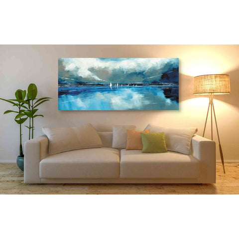 'Blue Sky and Boats I' by Stuart Roy, Canvas Wall Art,60 x 30