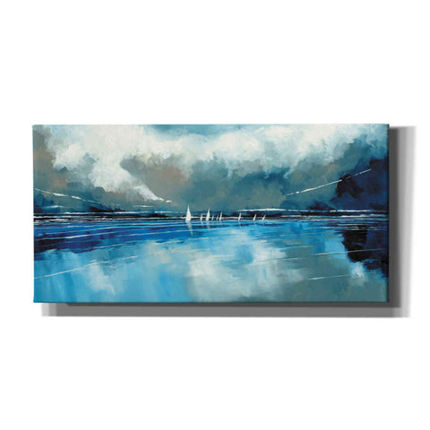 'Blue Sky and Boats I' by Stuart Roy, Canvas Wall Art,Size 2 Landscape