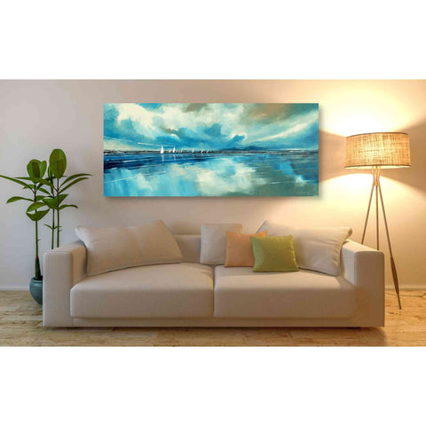 'Blue Sky and Boats IV' by Stuart Roy, Canvas Wall Art,60 x 30