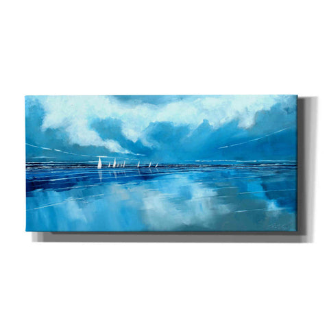 'Blue Sky and Boats V' by Stuart Roy, Canvas Wall Art,Size 2 Landscape