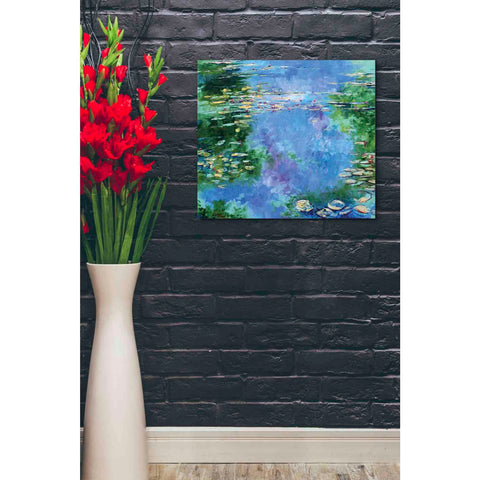 'Water Lilies III' by Stuart Roy, Canvas Wall Art,24 x 20