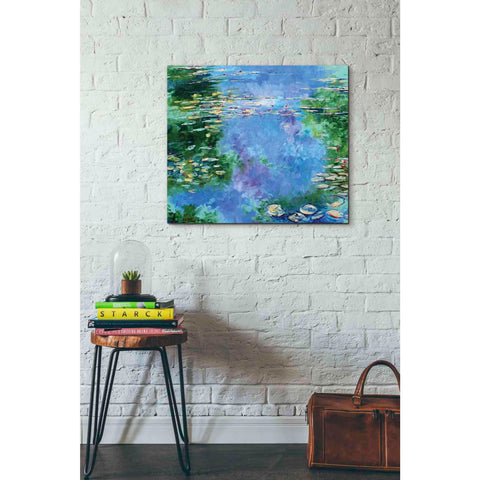 'Water Lilies III' by Stuart Roy, Canvas Wall Art,30 x 26