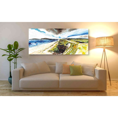 'Beach View' by Stuart Roy, Canvas Wall Art,60 x 30