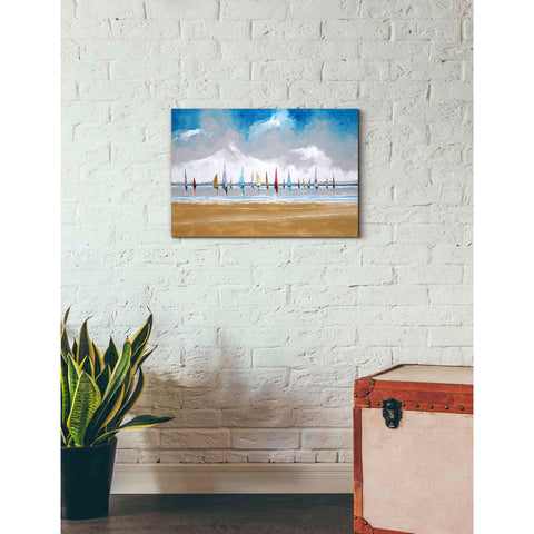 Image of 'Boats III' by Stuart Roy, Canvas Wall Art,26 x 18