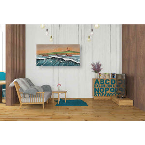 'Boats and Birds' by Stuart Roy, Canvas Wall Art,40 x 20