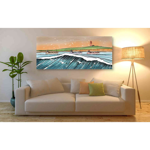 Image of 'Boats and Birds' by Stuart Roy, Canvas Wall Art,60 x 30