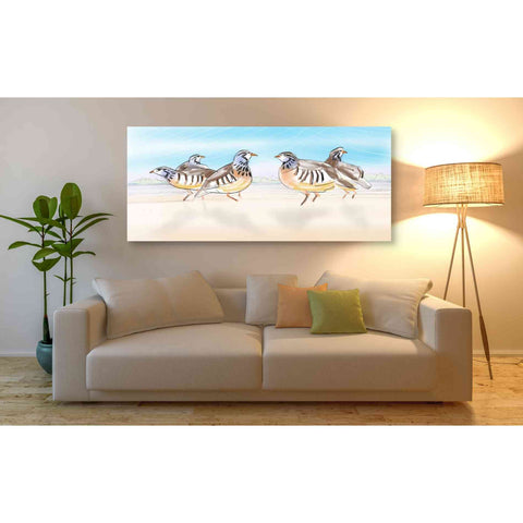 Image of 'Partridges' by Stuart Roy, Canvas Wall Art,60 x 30