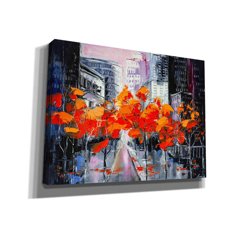 Image of 'City In A Foxy Clothes' by Lana Tikhonova Canvas Wall Art