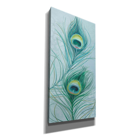 'Blue Feathered Peacock V' by Lisa Audit, Canvas Wall Art