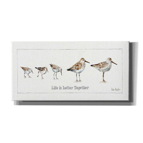 'Pebbles and Sandpipers I' by Lisa Audit, Canvas Wall Art