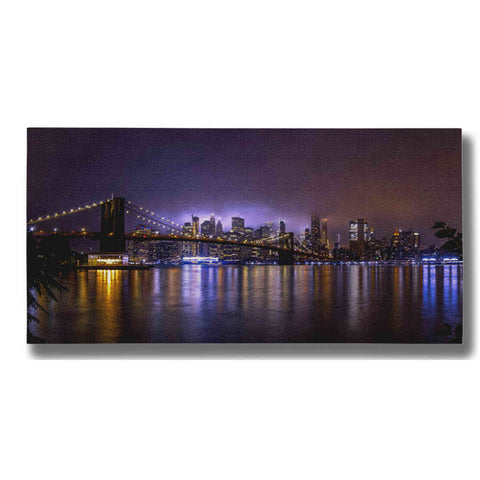 "Image of ""Bright Lights Of New York Ii"" by Nicklas Gustafsson Giclee Canvas Wall Art"