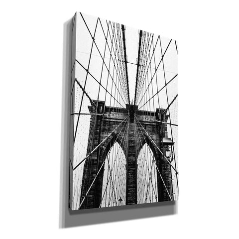 "Image of ""Brooklyn Bridge Web Vertical"" by Nicklas Gustafsson Giclee Canvas Wall Art"