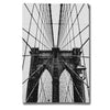"""Brooklyn Bridge Web Vertical"" by Nicklas Gustafsson Giclee Canvas Wall Art"