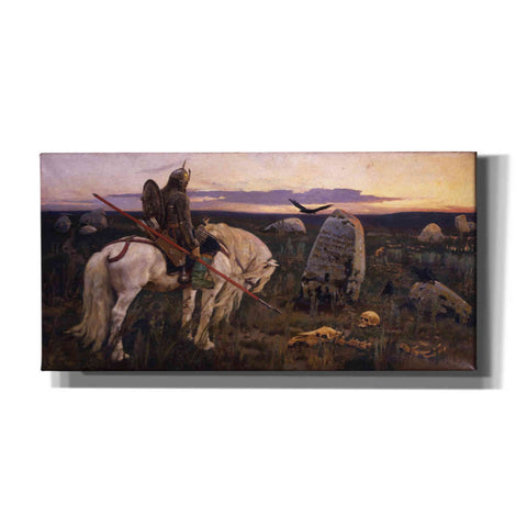 'The Knight At The Crossroads' by Viktor Vasnetsov, Canvas Wall Art,Size 2 Landscape