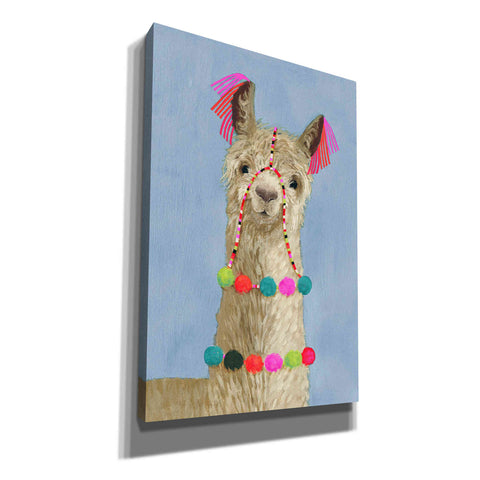 'Adorned Llama III' by Victoria Borges, Canvas Wall Art
