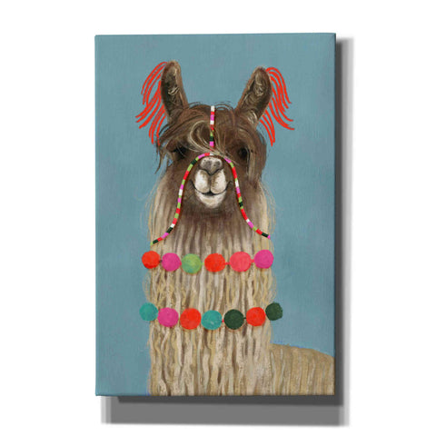'Adorned Llama IV' by Victoria Borges, Canvas Wall Art