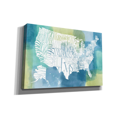 'Patchwork USA' by Grace Popp, Canvas Wall Glass