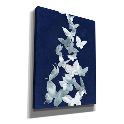 Image of 'Indigo Butterfly Falls II' by Grace Popp, Canvas Wall Glass